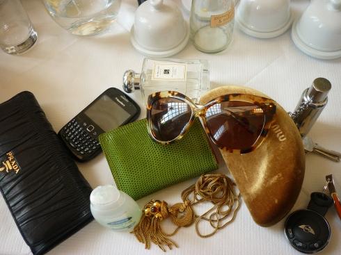 Inside Balenciaga - Prada purse, Jo Malone, Mini Cooper,